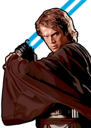 Anakin Skywalker Foil-For Topps Star Wars Galaxy 5 My Star wars Art was featured in a 15 card FOIL subset. These were considered chase cards. Each card was printed on Bronze, Silver, Gold and Prismatic Foil.