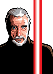 Count Dooku Foil-For Topps Star Wars Galaxy 5 My Star wars Art was featured in a 15 card FOIL subset. These were considered chase cards. Each card was printed on Bronze, Silver, Gold and Prismatic Foil.