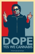 Dope, was a parody of the famous Obama Hope poster by Shepherd Ferry