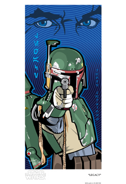 Official Star Wars Fine Art Print: Boba Fett Legacy