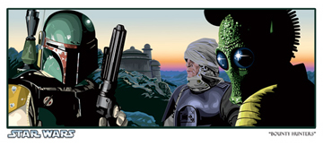 Official Star Wars Fine Art Print: Bounty Hunters