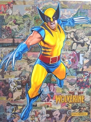 Wolverine: Legacy Acrylic and collage Comics on Clayboard, 18 X 24