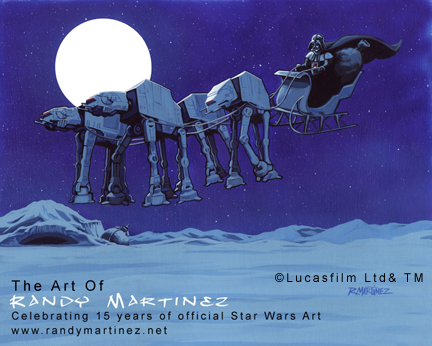 Official Star Wars Holiday Art ©LucasfilmLTD