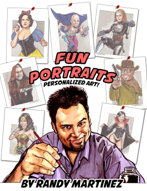 Randy Ad-fun portaits-b+w